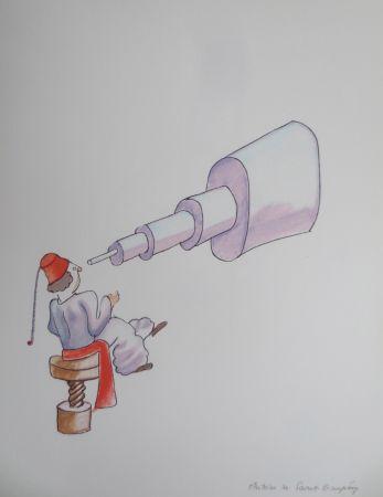 Lithographie Saint-Exupéry - L'astronome