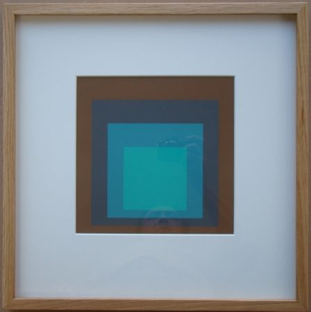 Sérigraphie Albers - Late Forest - Homage to the Square