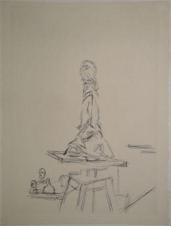 Eau-Forte Giacometti - L'Atelier à la selette I. (Studio with the turntable)