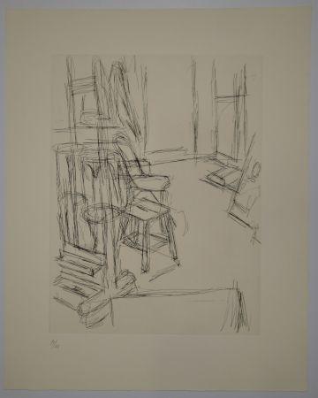 Gravure Giacometti - L'Atelier au chevalet (Studio with the Easel)