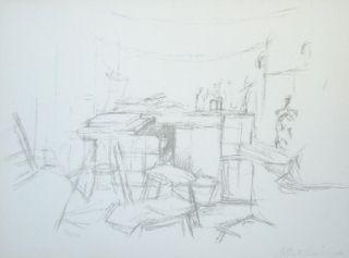 Lithographie Giacometti - L'Atelier aux bouteilles