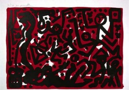 Lithographie Penck - Lausanne 2 Aber Hallo
