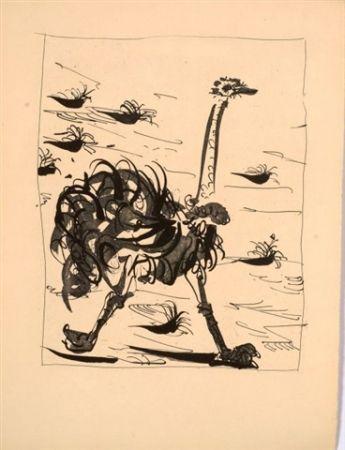 Aquatinte Picasso - L'autruche