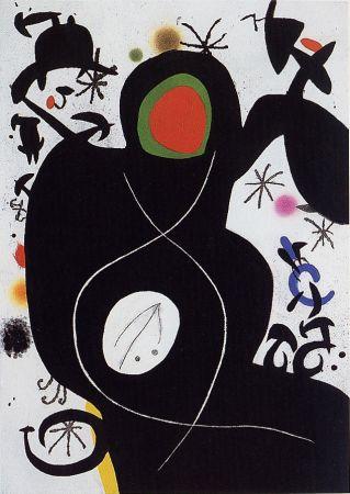 Gravure Miró -  L'Aveugle parmi les oiseaux