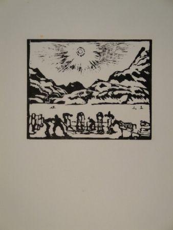 Gravure Sur Bois Giacometti - Lavoratori del ghiaccio, die Eisbrecher