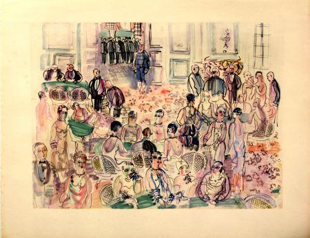 Lithographie Dufy - Le Baccarat  à  Deauville