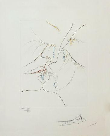 Eau-Forte Dali - LE BAISER (THE KISS)