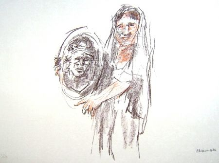Lithographie Kokoschka - Le Bal Masqué