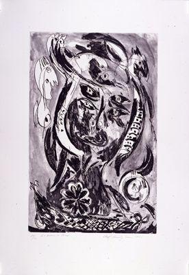 Gravure Pedersen - Le bateau de Caron