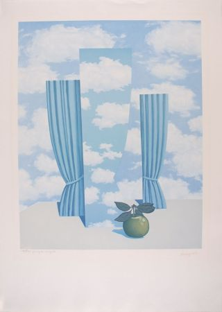 Lithographie Magritte - Le Beau Monde - The Beautiful World