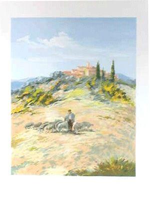 Lithographie Zarou - Le berger