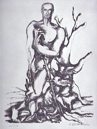 Lithographie Zadkine - Le berger de Gerion