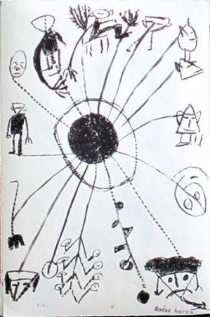 Lithographie Ionesco - Le blanc et le noir 4