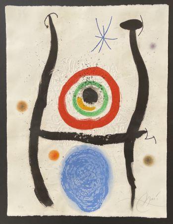 Eau-Forte Et Aquatinte Miró - Le Bleue de la Cible