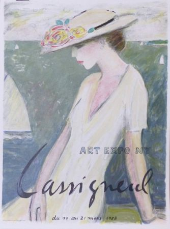 Lithographie Cassigneul  - Le bonheur entrevu