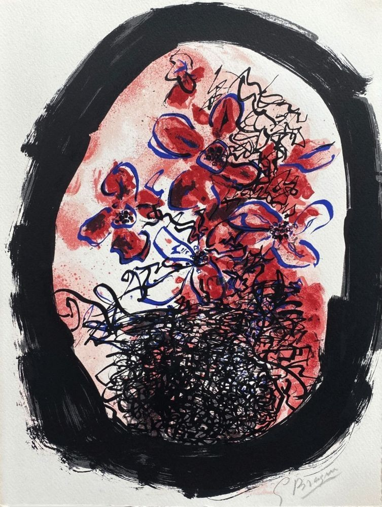 Lithographie Braque - Le bouquet