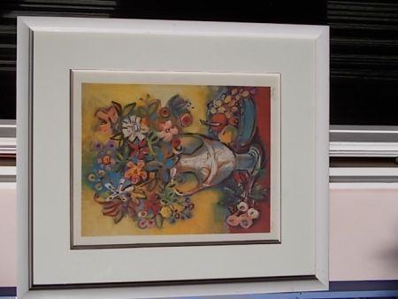Lithographie Bolorè  - Le Bouquet