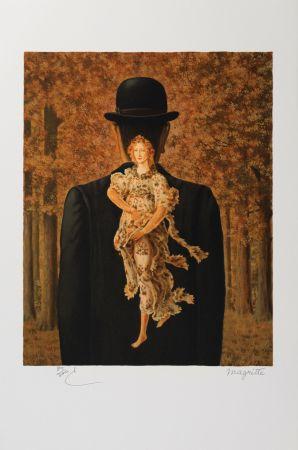 Lithographie Magritte - Le Bouquet