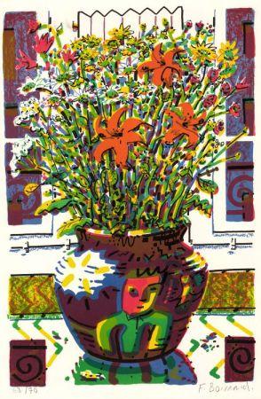 Lithographie Boisrond - Le Bouquet