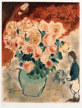 Lithographie Chagall - Le Bouquet (The Bouquet)