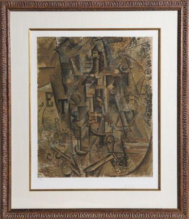 Collographie Picasso - Le Bouteille de Rhum