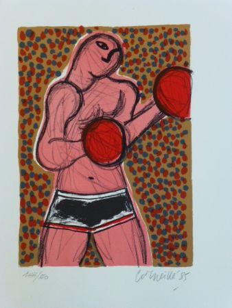 Lithographie Corneille - Le boxeur