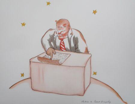 Lithographie Saint-Exupéry - Le businessman