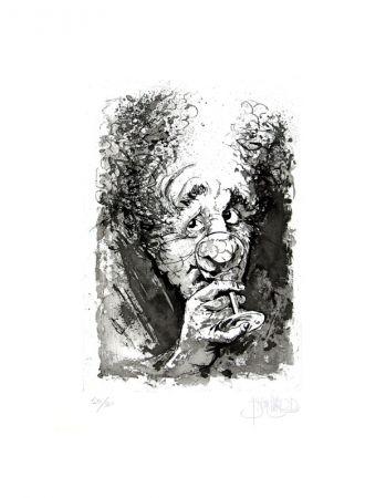 Eau-Forte Et Aquatinte Blanchard - Le buveur