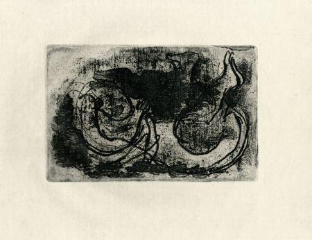 Eau-Forte Fautrier - Le cadavre (Fautrier l'enragé)