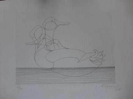 Eau-Forte Lalanne - Le canard