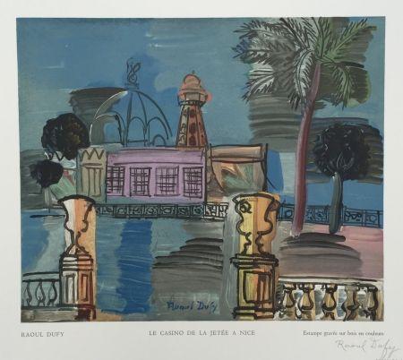 Gravure Sur Bois Dufy - Le Casino de la Jetée à Nice