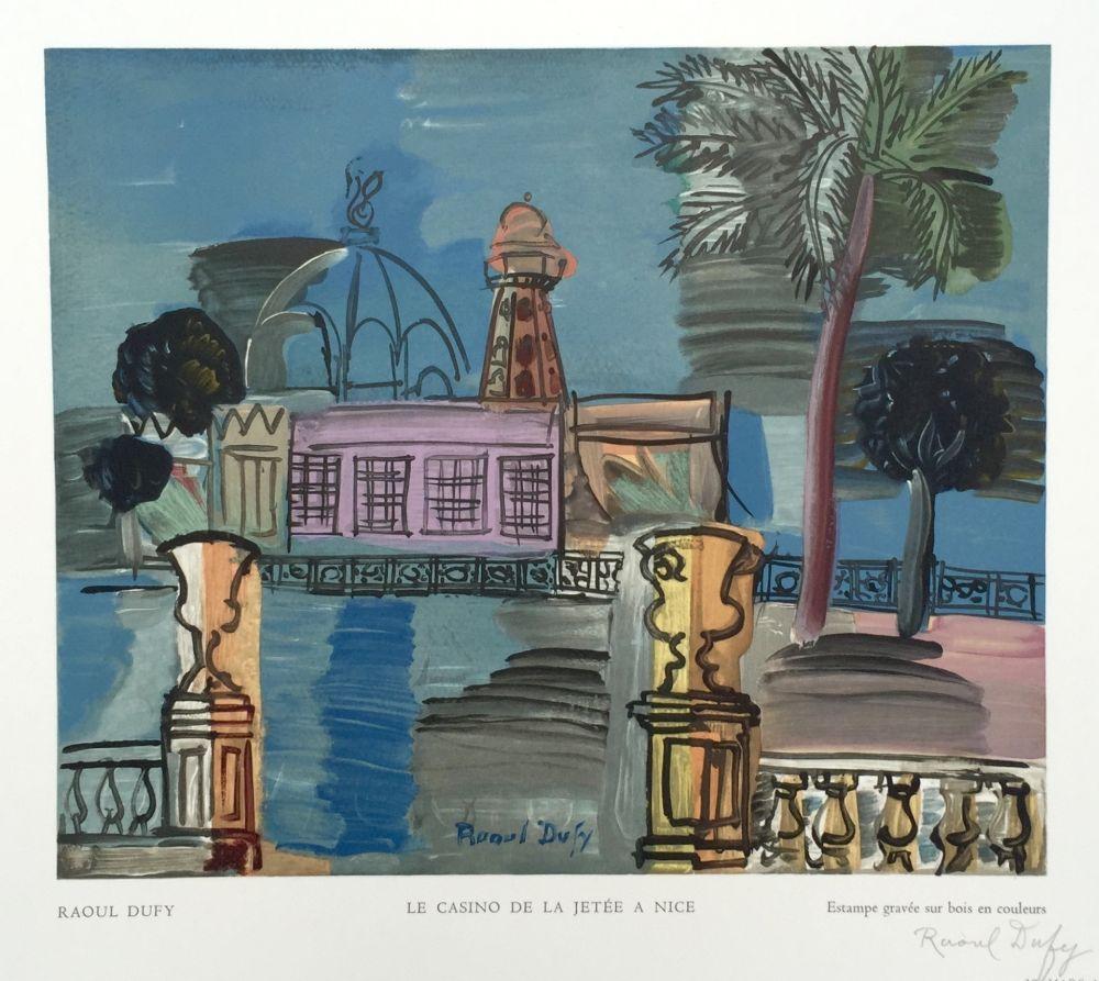 Gravure Sur Bois Dufy - Le Casino de la Jetée a Nice
