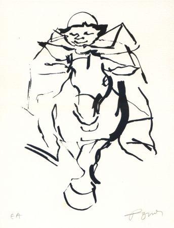 Lithographie Pomar - Le cavalier