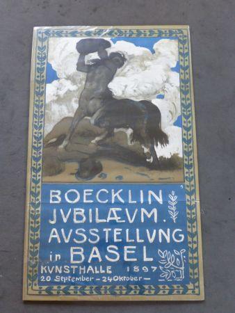 Affiche Boecklin - Le centaure ,musée de Bâle