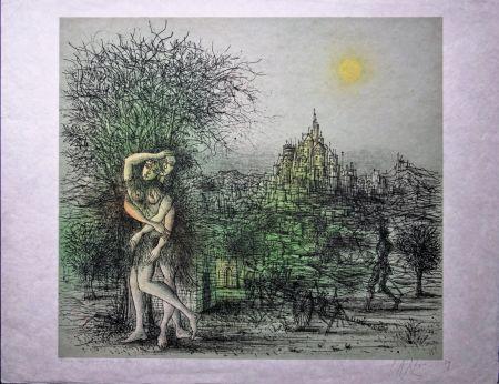 Lithographie Carzou - Le Château