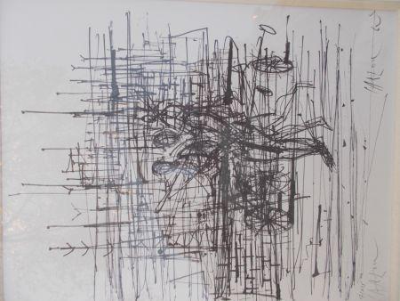 Lithographie Carzou - Le champ de bataille