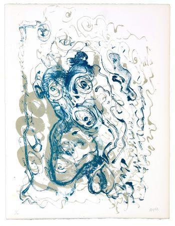Lithographie Grinberg - Le changement bave d'escargot