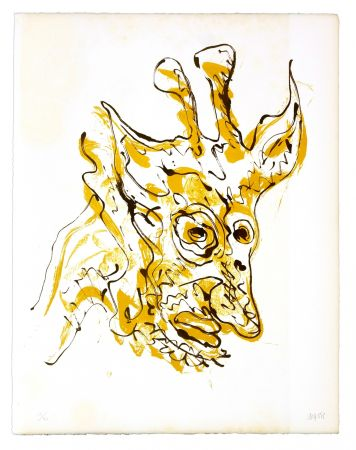 Lithographie Grinberg - Le changement en girafe