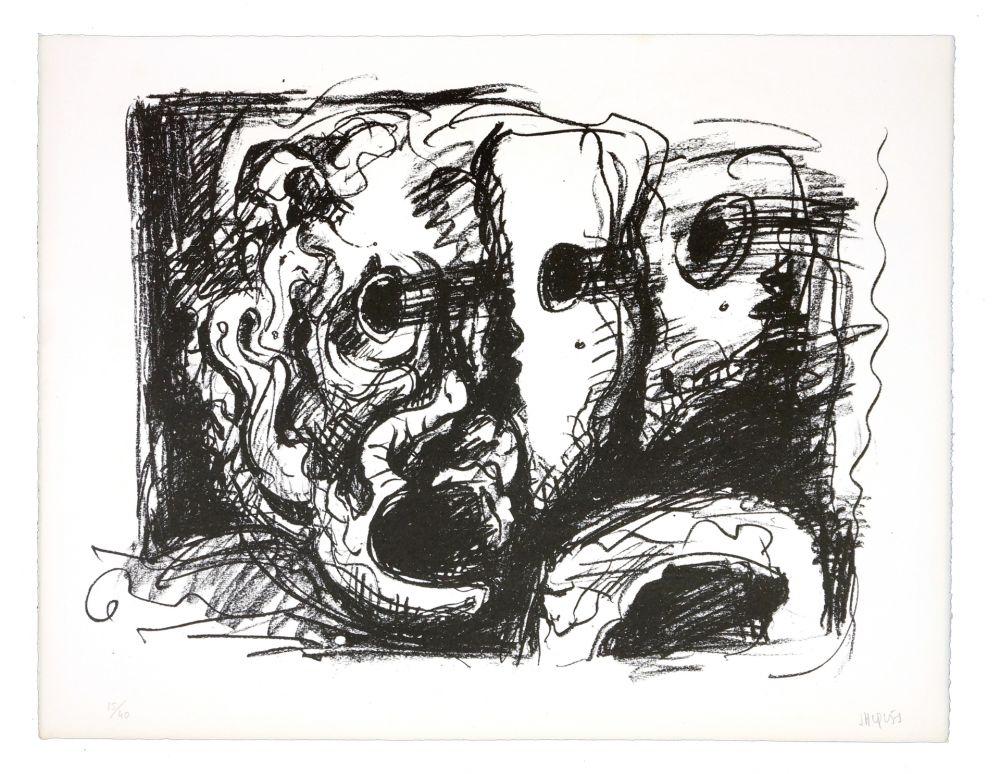Lithographie Grinberg - Le changement en tragédie (schizophrénie grecque)