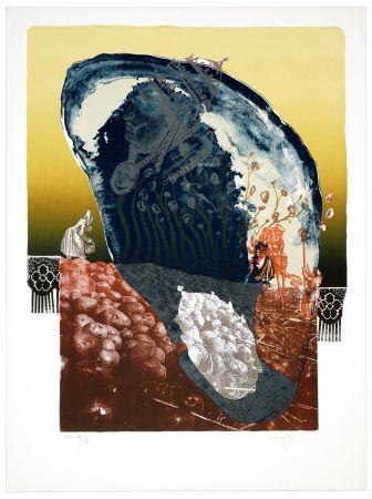 Lithographie Aritza - Le chant de patatas
