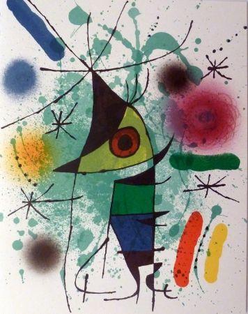 Lithographie Miró - Le Chanteur