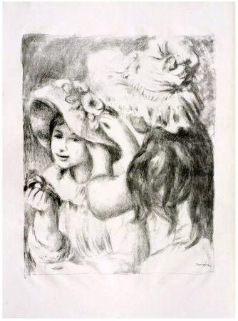 Lithographie Renoir - LE CHAPEAU ÉPINGLÉ (1898). 2e planche.
