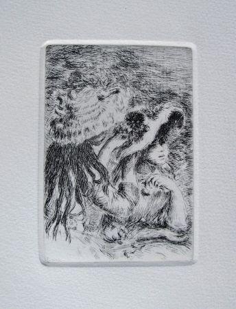 Gravure Renoir - Le chapeau épinglé