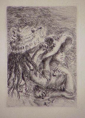 Gravure Renoir - Le chapeau épinglé, in Renoir et ses amis