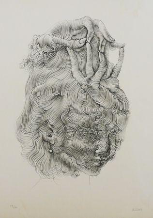 Lithographie Bellmer - LE CHAPEAU MAIN