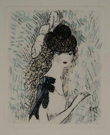 Eau-Forte Et Aquatinte Laurencin - Le chapeau sur les yeux