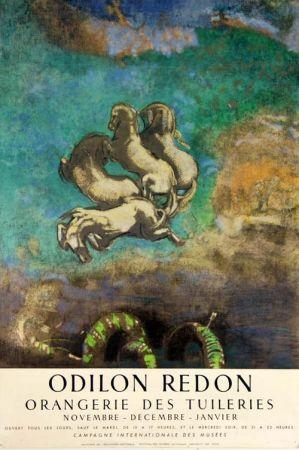 Lithographie Redon - Le Char D'Apollon