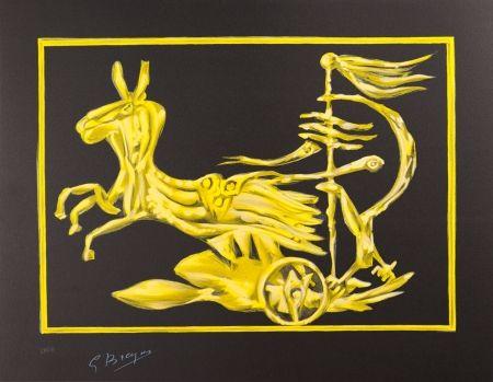 Lithographie Braque - Le Char de Médée