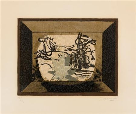 Lithographie Braque - Le Char (The Chariot III)