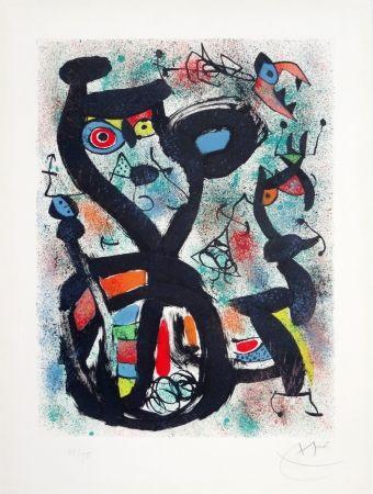 Lithographie Miró - Le chat